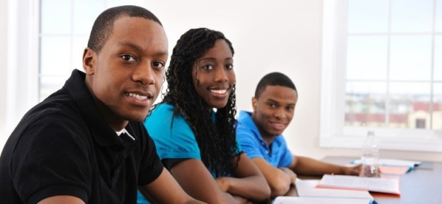 Black students in classroom