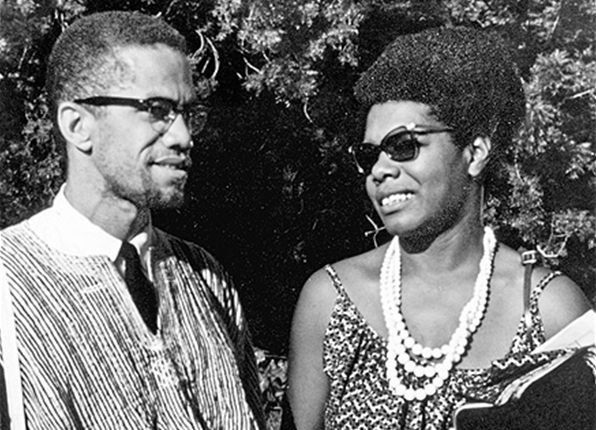 Maya Angelou and Malcolm X